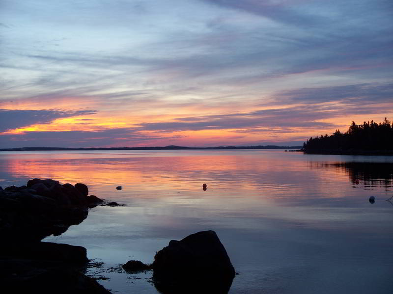 before sunrise at the marina murphys camping nova scotia 2006 800px